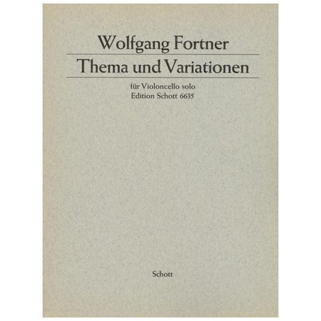 Fortner, W.: Thema und Variationen
