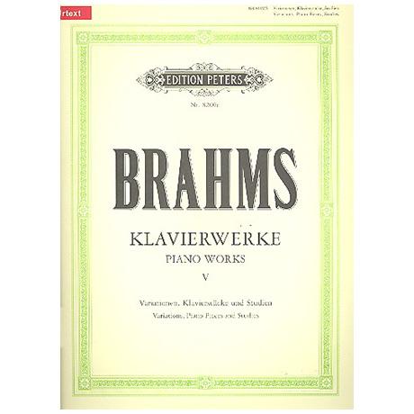 Brahms, J.: Diverse Klavierstücke