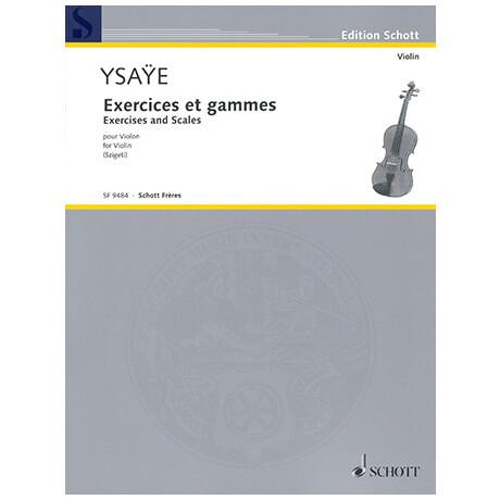 Ysaÿe, E.: Übungen und Tonleitern
