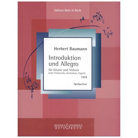 Baumann, H.: Introduktion und Allegro