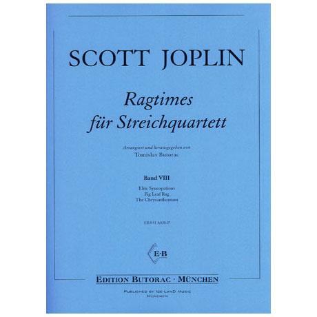 Joplin, S.: Ragtimes für Streichquartett Band 8
