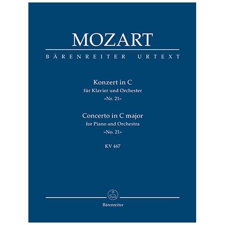 Mozart, W. A.: Konzert für Klavier und Orchester Nr. 21 C-Dur KV 467