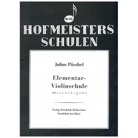 Püschel, J.: Elemetar-Violinschule, Heft 8