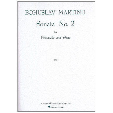 Martinu, B.: Violoncellosonate Nr. 2