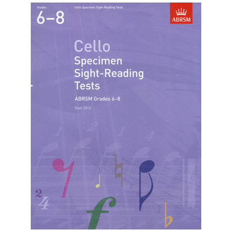 ABRSM: Cello Specimen Sight-Reading Tests – Grades 6-8 (From 2012)