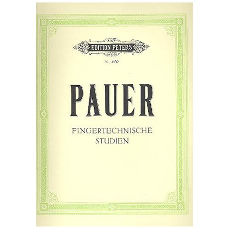 Pauer, E: Fingertechnische Studien