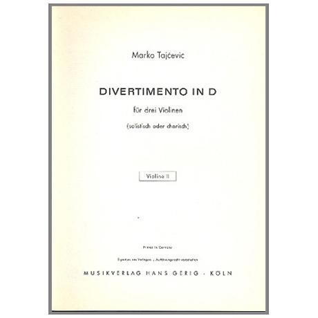 Tajcevic, M.: Divertimento D-Dur – Violine 2