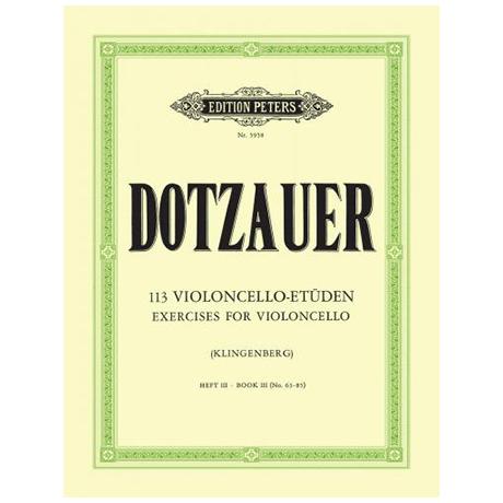 Dotzauer, J. J. F.: 113 Etüden Band 3 (Nr. 63-85)