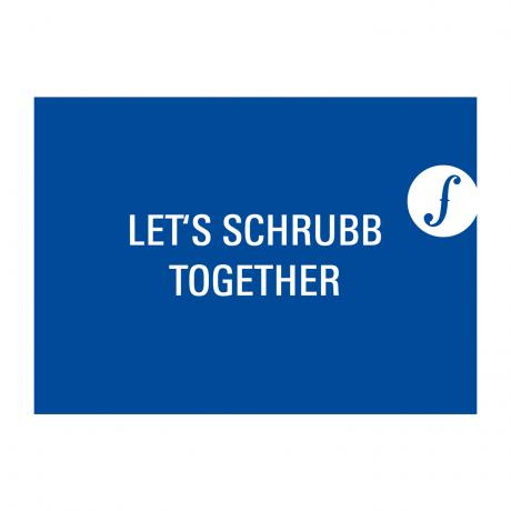 Post card LET´S SCHRUBB TOGETHER