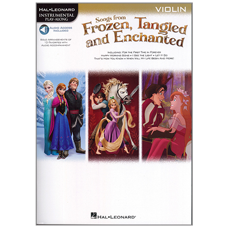 Songs from Frozen, Tangled and Enchanted for Violin (+Online Audio)