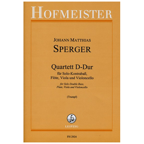 Sperger, J. M.: Quartett D-Dur
