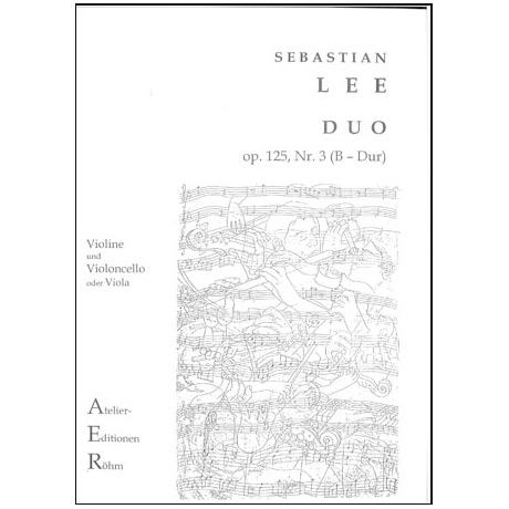 Lee, S.: Duo Op. 125/3 B-Dur