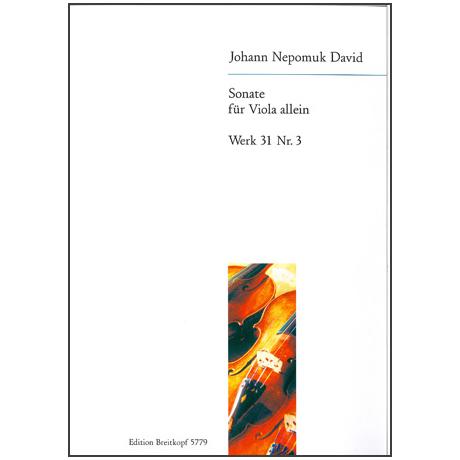 David, J.N.: Violasonate Werk 31/3 (1945)
