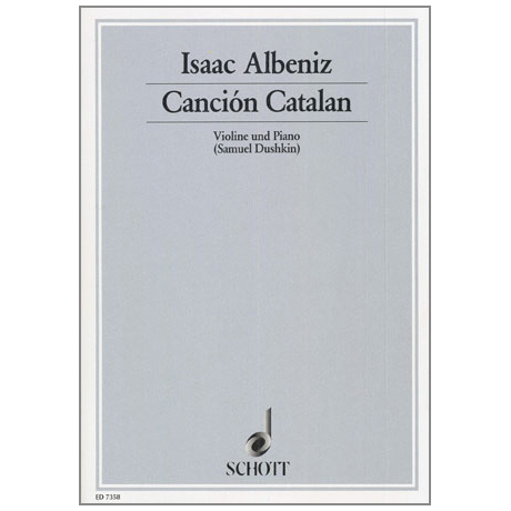 Albéniz, I.: Cancion Catalan