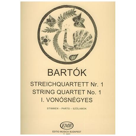 Bartók, B.: Streichquartett Nr. 1 Op. 7 (1908) – Stimmen