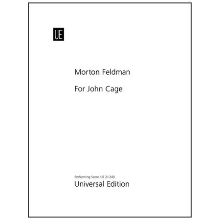 Feldman, M.: For John Cage