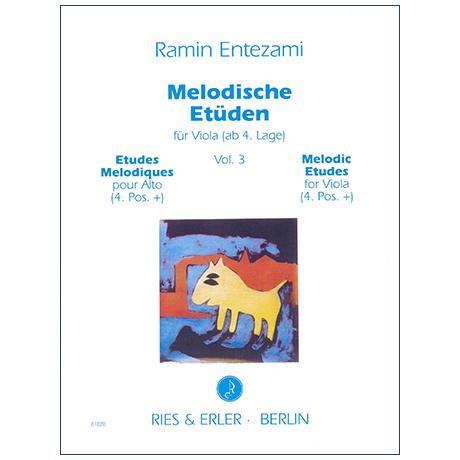 Entezami, R.: Melodische Etüden für Viola Band 3