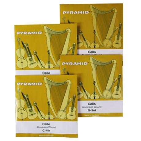 PYRAMID Alu cello strings SET