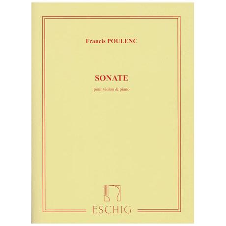 Poulenc, F.: Violinsonate