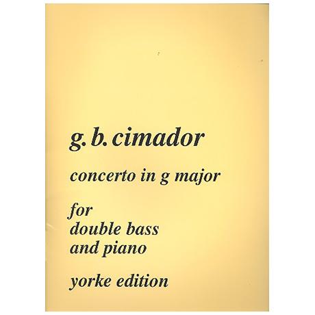 Cimador, G.: Concerto G-Dur