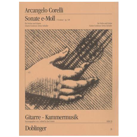 Corelli, A.: Sonata e-moll Op. 5 Nr. 8