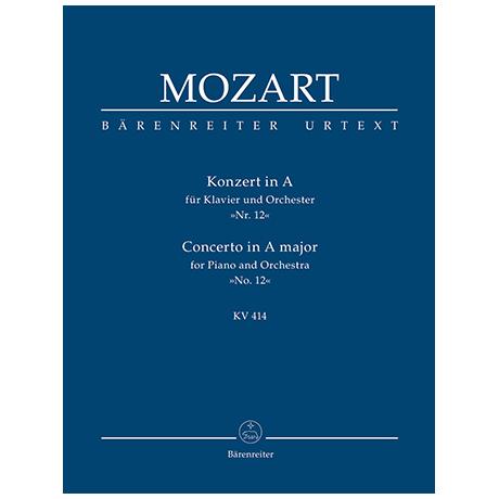 Mozart, W. A.: Konzert für Klavier und Orchester Nr. 12 A-Dur KV 414