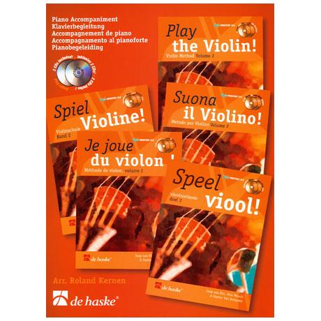 Elst, J. v.: Spiel Violine Band 2 (+ 2 CD's) - Klavierbegleitung