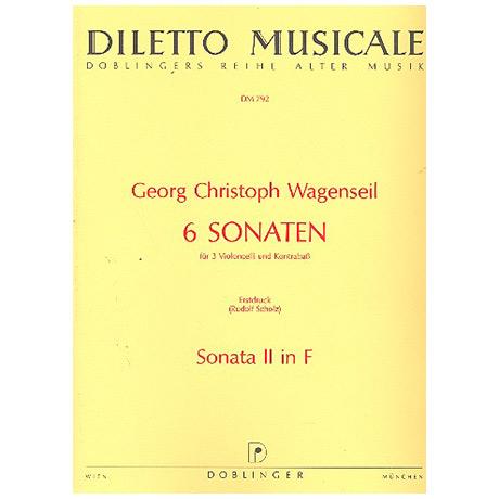 Wagenseil, G. C.: 6 Sonaten Band 2 Nr. 2 F-Dur