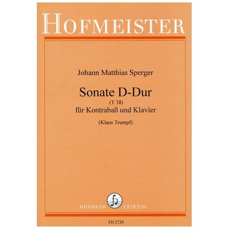 Sperger, J. M.: Kontrabasssonate D-Dur (T38)