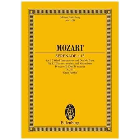 Mozart, W. A.: Serenade a 13 Nr. 10 B-Dur KV 361 »Gran Partita«
