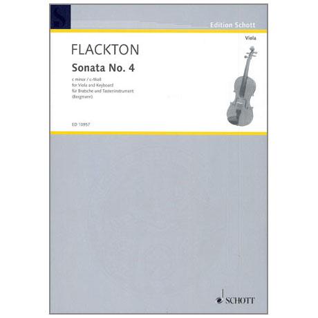 Flackton, W.: Violasonata Nr. 4 c-Moll, Op. 2/8