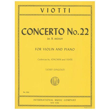 Viotti, G. B.: Violinkonzert Op. 22 a-Moll