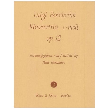Boccherini, L.: Klaviertrio Op. 12 e-Moll