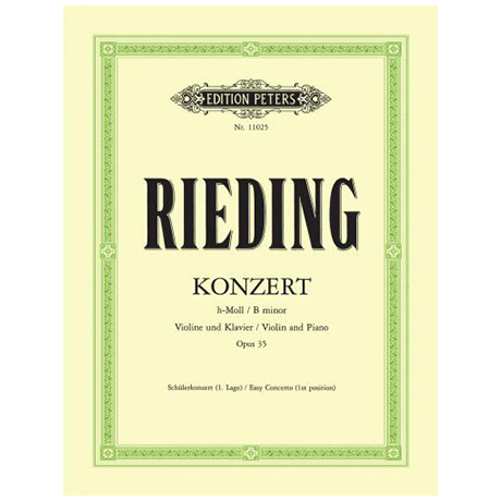 Rieding, O.: Violinkonzert Op. 35 h-Moll