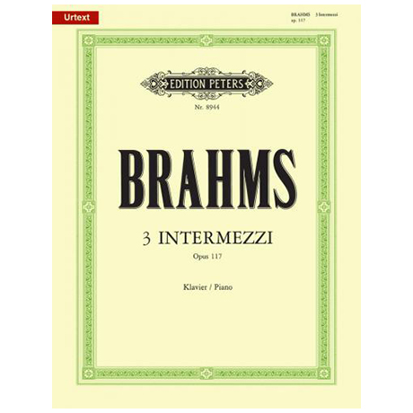 Brahms, J.: 3 Intermezzi Op. 117