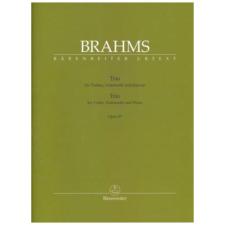 Brahms, J.: Klaviertrio Op. 87 C-Dur