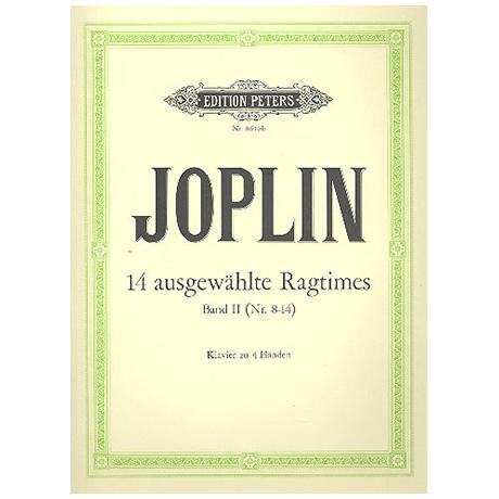 Joplin, S.: 14 ausgewählte Ragtimes Band 2