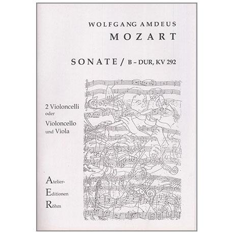 Mozart, W. A.: Sonate B-Dur nach KV 292
