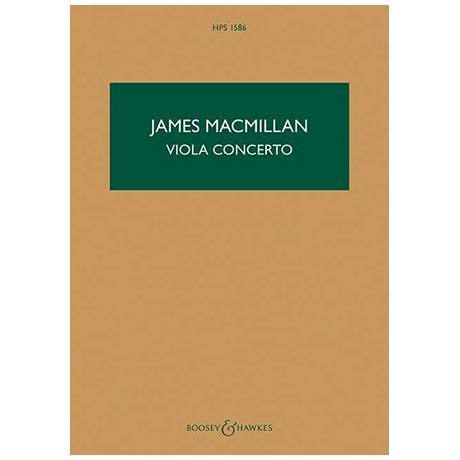MacMillan, J.: Violakonzert – Partitur