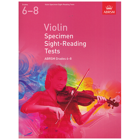 ABRSM: Violin Specimen Sight-Reading Tests – Grades 6-8 (From 2012)