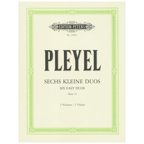 Pleyel, I.J.: 6 kleine Duos Band 1 Op.23