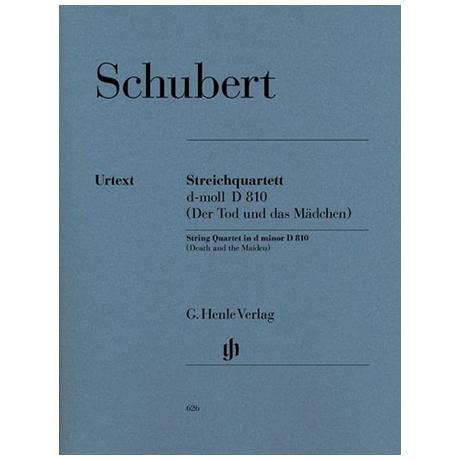 Schubert, F.: Streichquartett d-Moll D810 (Der Tod und das Mädchen) Urtext