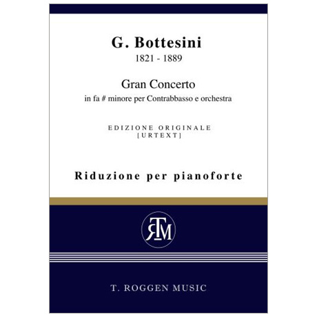 Bottesini, G.: Kontrabasskonzert fis-Moll »Gran Concerto«