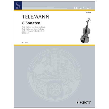 Telemann, G. Ph.: 6 Sonaten – Band 1