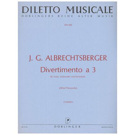 Albrechtsberger, J.G.: Divertimento a tre F-Dur