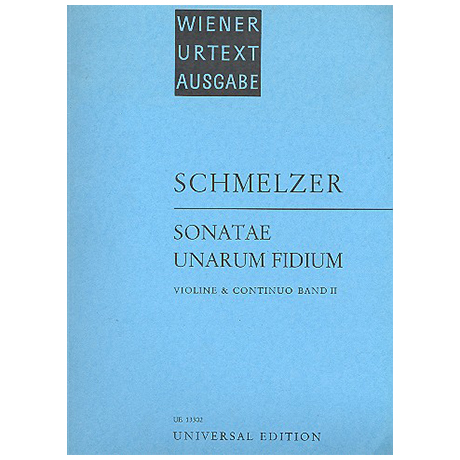 Schmelzer, J. H.: Sonatae unarum fidium Band 2