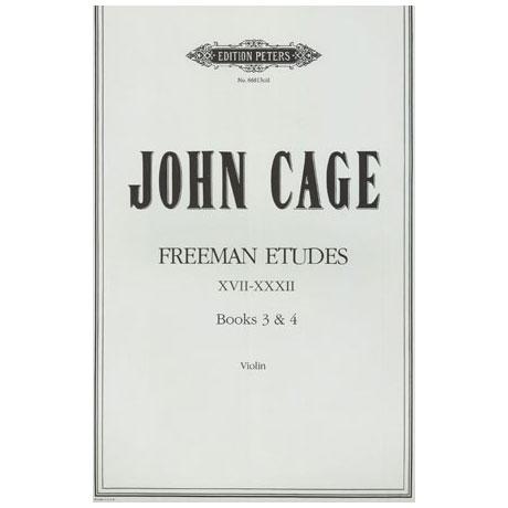 Cage, J.: Freeman Etudes Books 3 & 4 (Nr. 17-32)