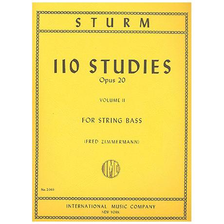Sturm, W.: 110 Studies Op. 20 Vol. 2 (Nr. 56-110)