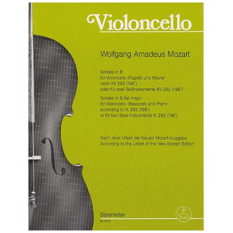 Mozart, W. A.: Sonate nach KV292 B-Dur