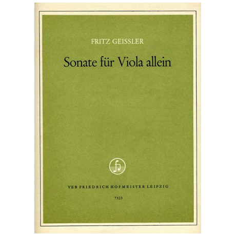 Geißler, F.: Violasonate.